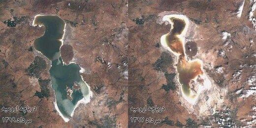 افزایش یک متری تراز دریاچه ارومیه طی ۲ سال