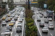 آزادراه قزوین تا تهران ترافیک سنگین دارد