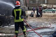 تصاویر | انفجار در پارکینگ تانکرهای سوخت