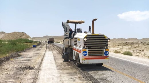 ۱۰ کیلومتر از جاده فرودگاه قشم بهسازی شد