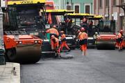 ببینید | آسفالت کردن خیابانی در مرکز مسکو در کمترین زمان