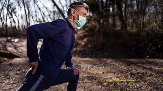 ورزشکاران هنگام ورزش ماسک نزنند