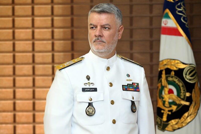 حضور مقام بلندپایه ارتش ایران در رژه دریایی ارتش روسیه