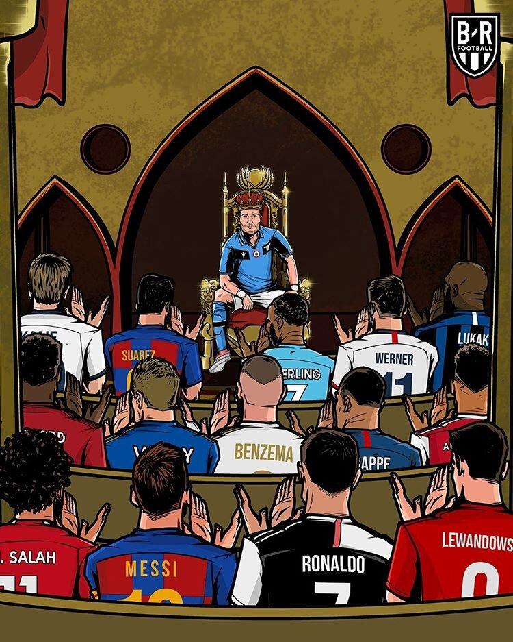 ببینید: آقای گل فوتبال اروپا بر تخت نشست!