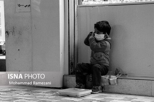 انتقال کودکان کار و خیابان دارای علائم کرونا به مراکز درمانی