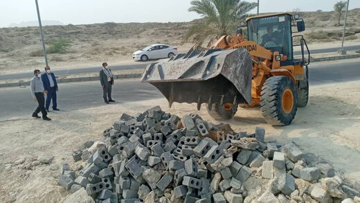 ۱۲۰ مترمربع اراضی ملی در روستای گوری قشم رفع تصرف شد