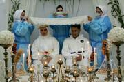 عکس | ازدواج زوج پرستار در بیمارستان اهواز