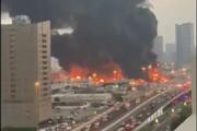 ببینید | آتش سوزی مرکز خرید سالم در عجمان