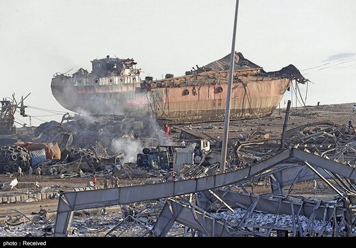انفجار روز گذشته در بیروت
