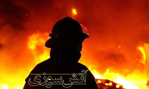 آتش سوزی انبار ضایعات پلاستیک در تهران/ جزییات