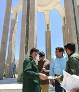 بازدید فرمانده سپاه فتح کهگیلویه و بویراحمد از روند ساماندهی یادمان شهدای گمنام یاسوج