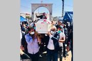 ببینید | وداع مردم لبنان با عروس جانباخته در انفجار بیروت
