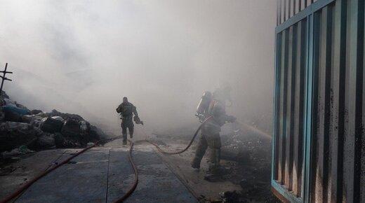 ببینید | آتش سوزی در پاساژ معروف جزیره کیش