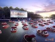 پاریس با رعایت فاصله اجتماعی رودخانه سن را به یک سینمای شناور تبدیل میکند! تصاویر