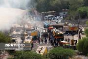 تصاویر | بازار پردیس کیش در آتش سوخت