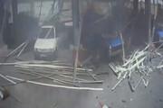 ببینید | لحظه انفجار نیسان آبی در سکوی CNG در مازندران