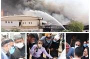 حضور پر رنگ مدیران سازمان منطقه آزاد کیش در عملیات مهار آتش سوزی پردیس