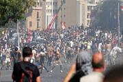 ببینید | حمله مجدد به وزارتخانهها و ادارات دولتی بیروت
