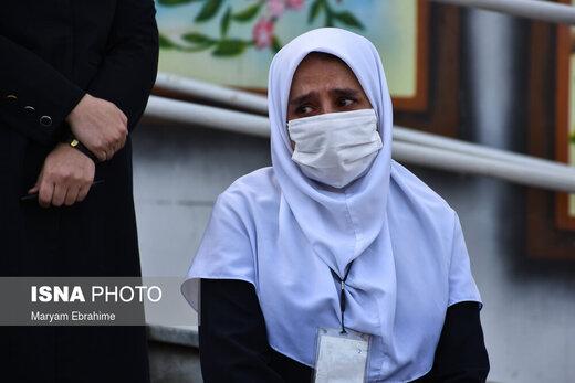 مراسم تشییع ششمین شهید مدافع سلامت در تبریز