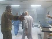 ببینید | آتش سوزی در بیمارستان نفتِ تهران