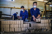 تصاویر | کارخانه تولید آجر در روستای فیض آباد گرگان
