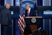 ببینید | فرار ترامپ از کنفرانس خبری به علت تیراندازی در بیرون کاخ سفید