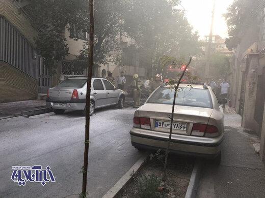 آتش گرفتن خودرو ال 90 درخیابان لارستان تهران