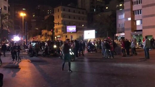 تظاهرات اطراف پارلمان لبنان به خشونت کشیده شد