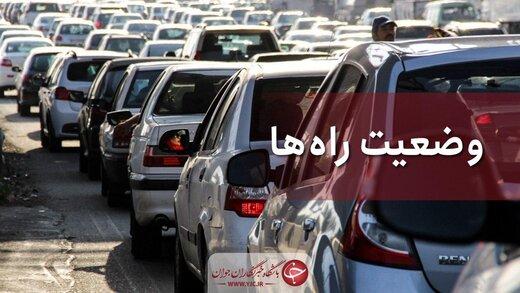 ترافیک نیمه سنگین در آزادراه کرج-تهران/ بارش باران در این مناطق