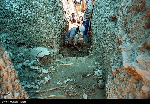 کشف دومین اسکلت بانوی اشکانی در اصفهان