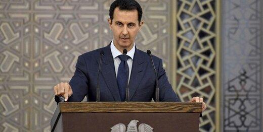 حال بشار اسد حین سخنرانی خراب شد