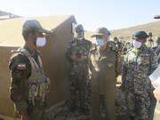 تصویر حضور سرزده فرمانده کل ارتش در اردوگاه دانشگاههای افسری امام علی(ع) و خاتم الانبیاء(ص)