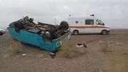 ببینید | واژگونی خونین مینیبوس در خوزستان
