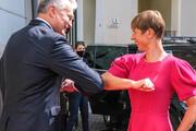 ببینید | سلام کرونایی رئیس جمهورهای استونی و لیتوانی