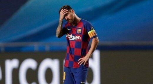 لیونل مسی؛ فقط یک قدم تا گریه کردن! /عکس