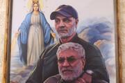 ببینید | عکس شهید حاج قاسم سلیمانی در منزل یکی از فرماندهان مسیحی محور مقاومت