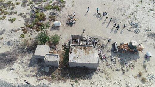 رفع تصرف اراضی ملی و دولتی قشم به ارزش  ۸۴ میلیارد ریال در شهر درگهان