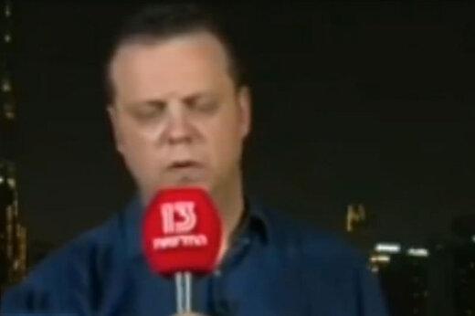 ببینید | بیهوش شدن خبرنگار صهیونیستی هنگام گزارش