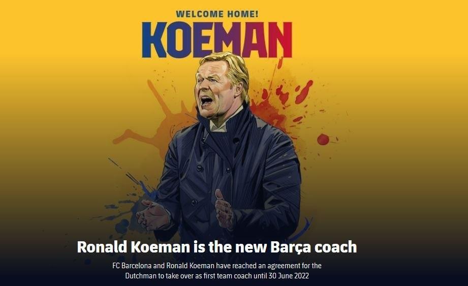 رونالد کومان رسماً سرمربی بارسلونا شد