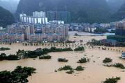 ببینید | سیل در استان سیچوان چین پاهای مجسمه بزرگ بودا را هم زیر آب برد