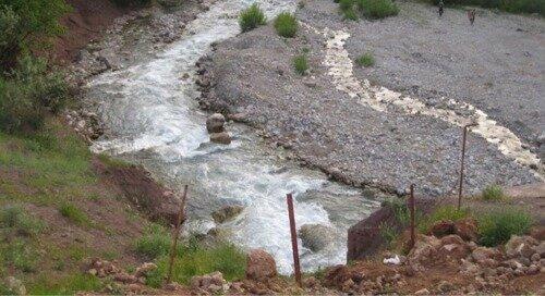 اولین سند بستر رودخانه در قزوین اخذ شد