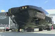 ببینید | خودروی آبی خاکی روسیه در نمایشگاه نظامی مسکو