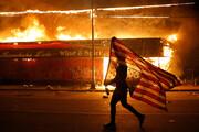 ببینید | تصاویری از جهنم خشم مردم در دل حکومت نظامی آمریکا