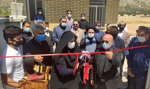 افتتاح پروژه چمن مصنوعی نقاره خانه بویر احمد