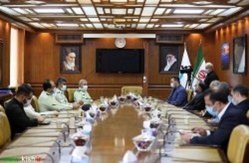 تقدیر نیروی انتظامی از مسئولین سازمان منطقه آزاد کیش