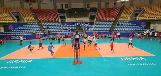 برد آذرباتری در روز ناکامی دوباره شهرداری ارومیه در مسابقات دوستانه والیبال