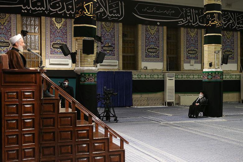 5449728 - متفاوتترین مراسم عزاداری در حسینیه امام خمینی(ره)  با حضور رهبر انقلاب + عکس
