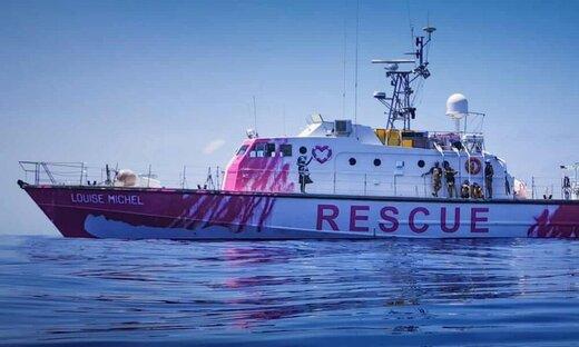 قایق نجات مهاجران، جدیدترین پروژه «بنکسی»