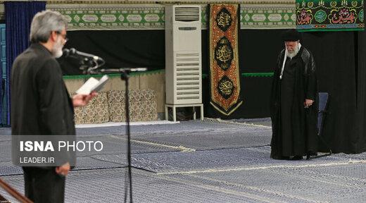 مراسم عزاداری مقام معظم رهبری در شب هشتم محرم