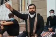 ببینید | سوال اعضای هیاتهای مذهبی مقابل فرمانداری بابلسر در تجمع اعتراضی